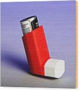 Asthma Inhaler Wood Print