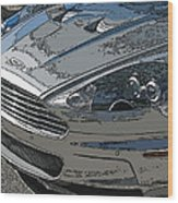 Aston Martin Db S Coupe Nose Detail Wood Print