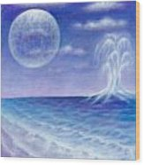 Astral Beach Wood Print