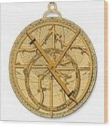 Astrolabe, Historical Artwork Wood Print by Detlev Van Ravenswaay