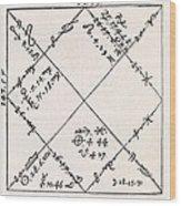 Astrology Chart, 16th Century Wood Print