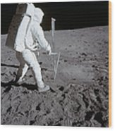 Astronaut During Apollo 11 Wood Print