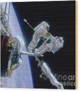 Astronauts Wood Print