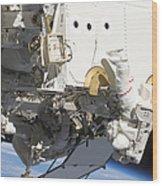 Astronauts Participate Wood Print