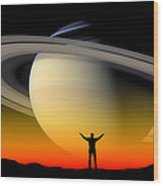 Astronomy Wood Print