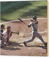 At Bat Wood Print
