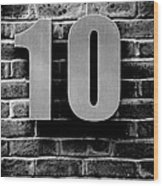 At Number 10 Wood Print