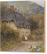 At Symondsbury Near Bridport Dorset Wood Print