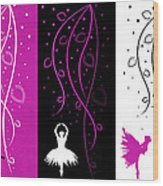 At The Ballet Triptych 2 Wood Print