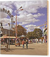 At The Prater - Vienna Wood Print