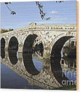 Atcham Bridge Wood Print