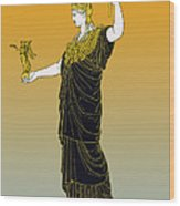 Athena, Greek Goddess Wood Print