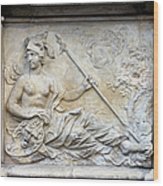 Athena Relief In Gdansk Wood Print