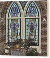 Athens Alabama First Presbyterian Church Stained Glass Window Wood Print