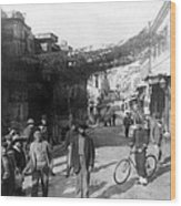 Athens Greece  C 1903 - Aeolos Street And The Stoa Of Hadrian Wood Print