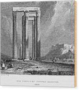 Athens: Olympian Zeus Wood Print