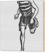 Athletics: Runner, C1900 Wood Print