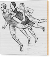 Athletics: Track, 1890 Wood Print by Granger