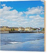 Athlone City And Shannon River Wood Print by Gabriela Insuratelu