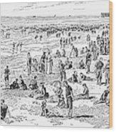 Atlantic City, 1890 Wood Print