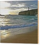 Atlantic Ocean Meets The Portugese Coast Wood Print