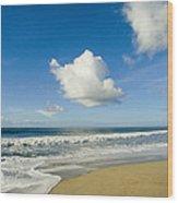 Atlantic Ocean Waves Break On The Beach Wood Print