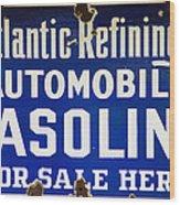 Atlantic Refining Co Sign Wood Print