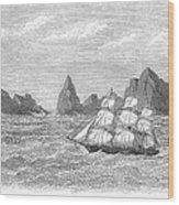 Atlantic: St. Pauls Rocks Wood Print