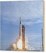 Atlas Agena Target Vehicle Liftoff Wood Print