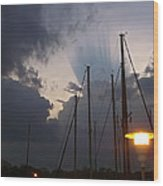 Atmospheric Phenomenon Wood Print
