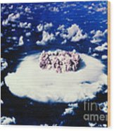 Atomic Bomb Test Cloud Wood Print by Science Source