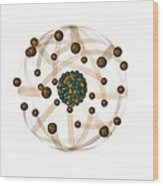 Atomic Structure, Artwork Wood Print