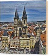 Atop The Clock Tower - Prague Wood Print