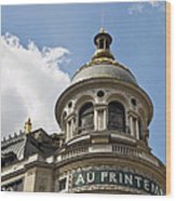 Au Printemps - Paris Wood Print