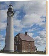 Au Sable Lighthouse 1 Wood Print
