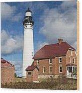 Au Sable Lighthouse 3 Wood Print