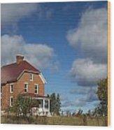 Au Sable Lighthouse 4 Wood Print
