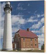 Au Sable Lighthouse 5 Wood Print