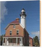 Au Sable Lighthouse 7 Wood Print