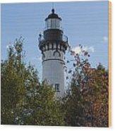 Au Sable Lighthouse 8 Wood Print
