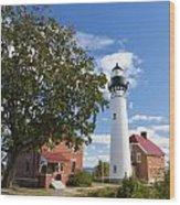 Au Sable Lighthouse 9 Wood Print