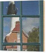 Au Sable Lighthouse Abstract 1 Wood Print