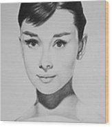 Audrey Hepburn Wood Print