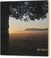 August 12 Sunrise Wood Print