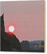 August 6 Sunset Wood Print