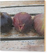 Figs On A Table  Wood Print
