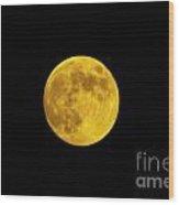 August Moon Wood Print