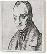 Auguste Comte, French Philosopher Wood Print