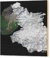 Augustine Volcano, Alaska Wood Print