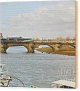 Augustus Bridge Dresden Germany Wood Print